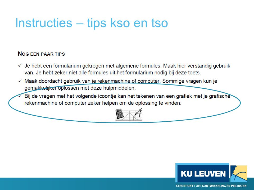 Instructies – tips kso en tso