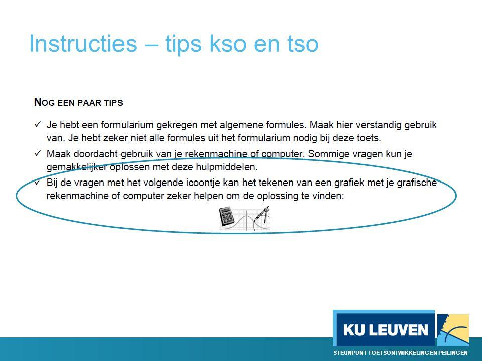 Instructies – tips kso en tso