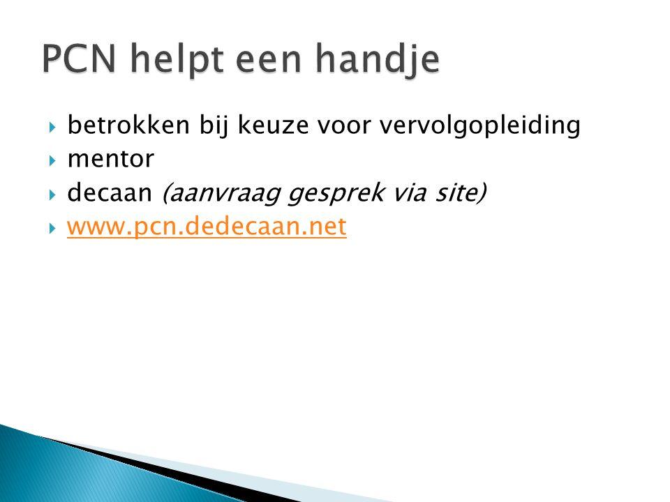 PCN helpt een handje betrokken bij keuze voor vervolgopleiding mentor