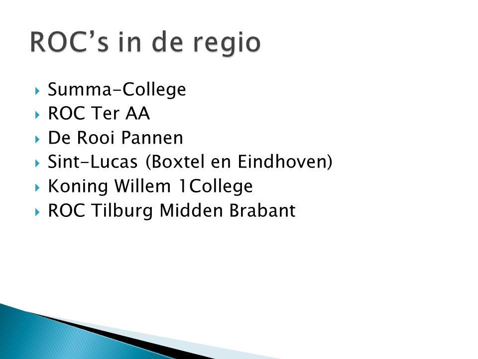 ROC's in de regio Summa-College ROC Ter AA De Rooi Pannen