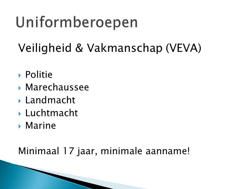 Uniformberoepen Veiligheid & Vakmanschap (VEVA) Politie Marechaussee