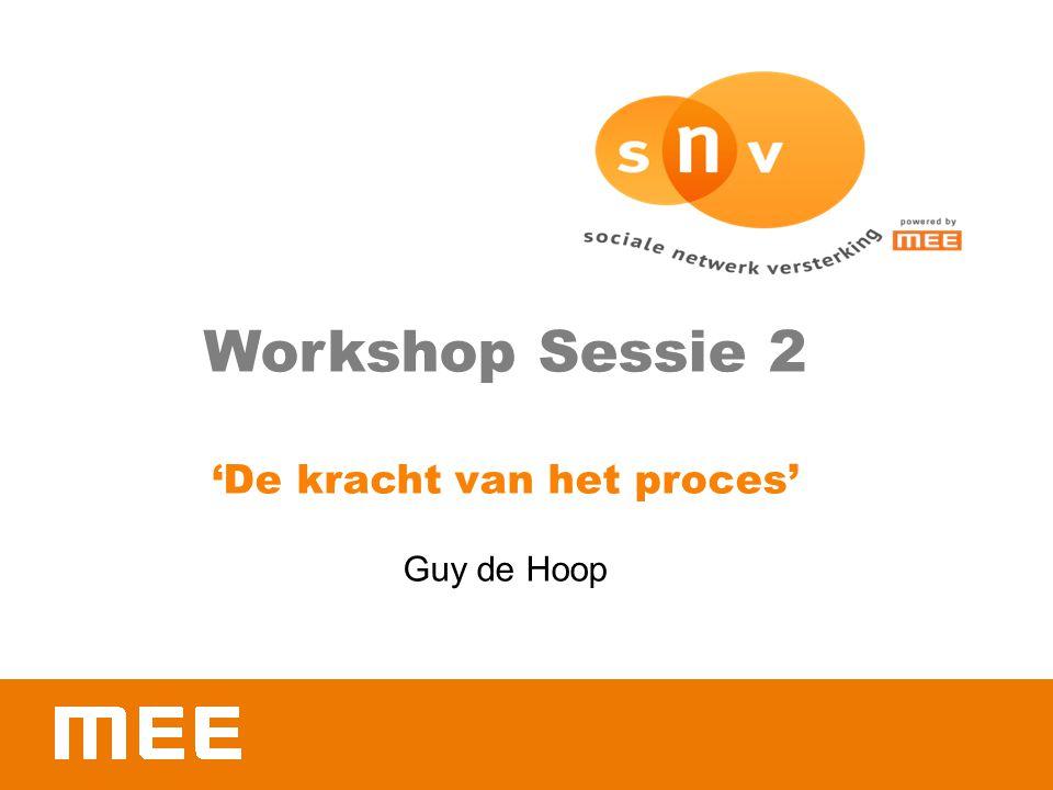 Workshop Sessie 2 'De kracht van het proces' Guy de Hoop