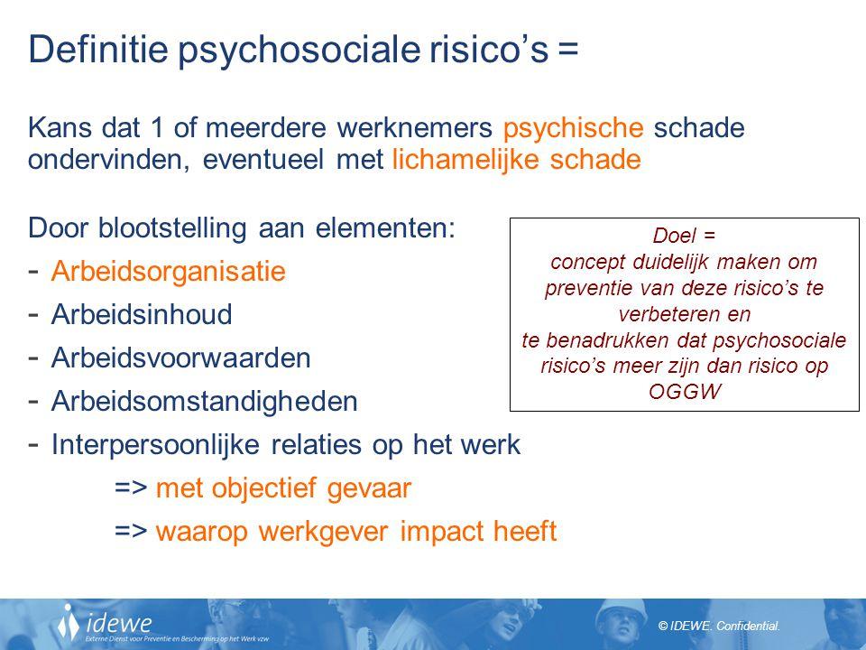 te benadrukken dat psychosociale risico's meer zijn dan risico op OGGW