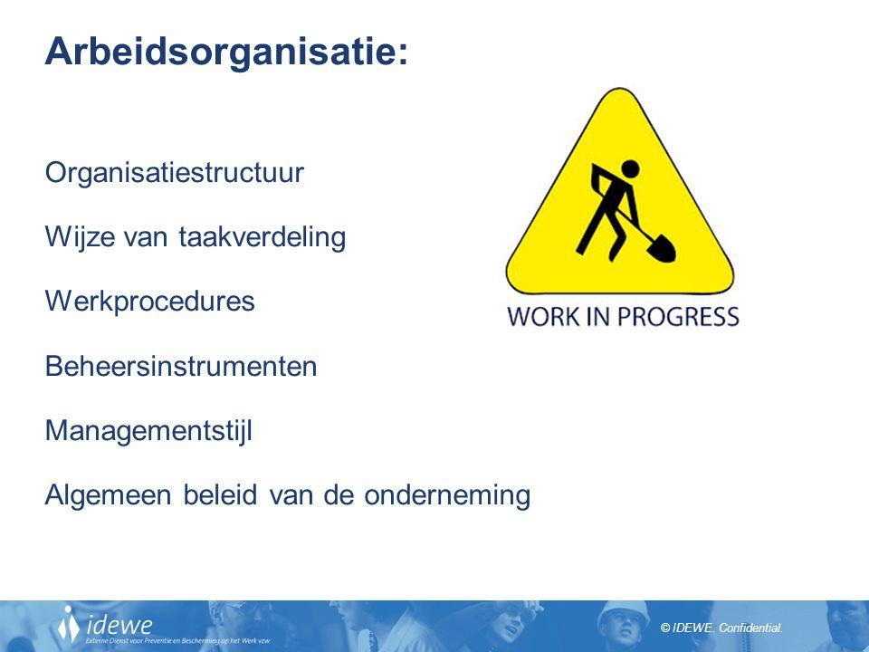 Arbeidsorganisatie: Organisatiestructuur Wijze van taakverdeling