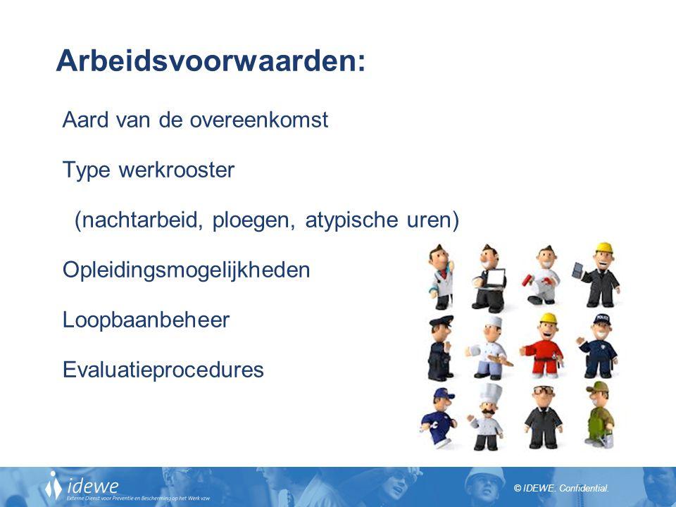 Arbeidsvoorwaarden: Aard van de overeenkomst Type werkrooster