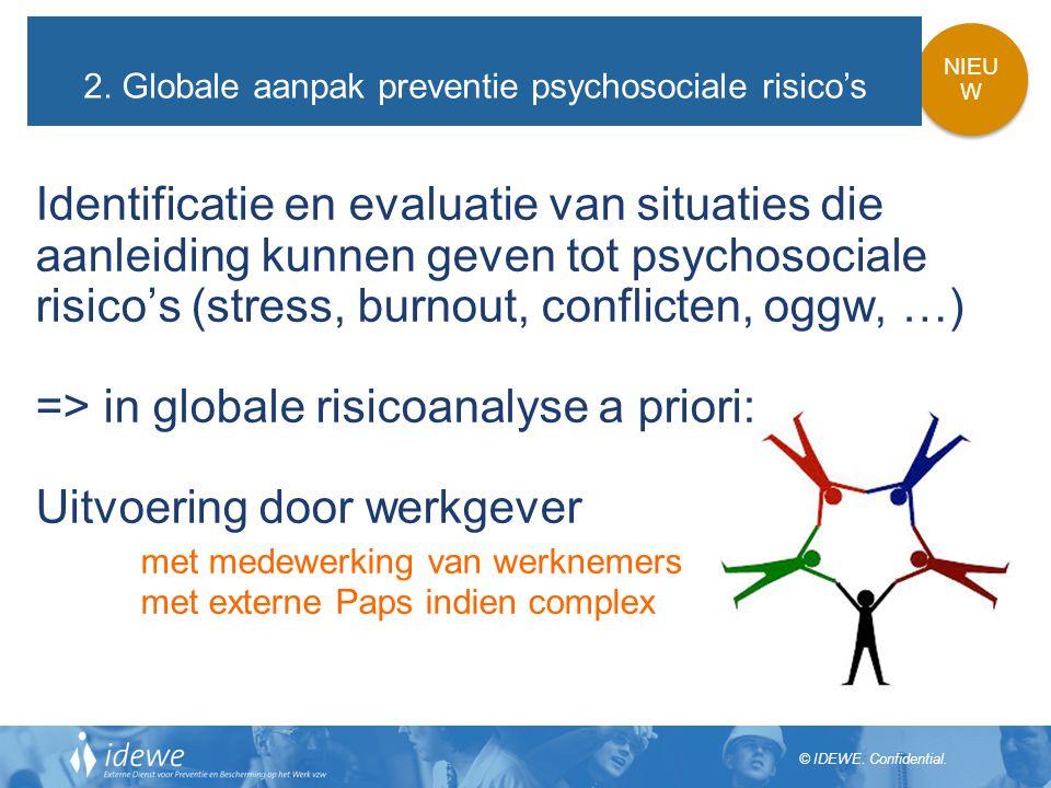 2. Globale aanpak preventie psychosociale risico's
