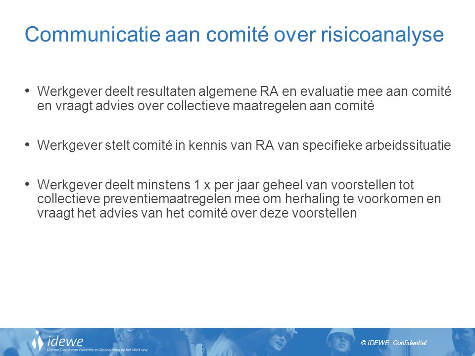 Communicatie aan comité over risicoanalyse