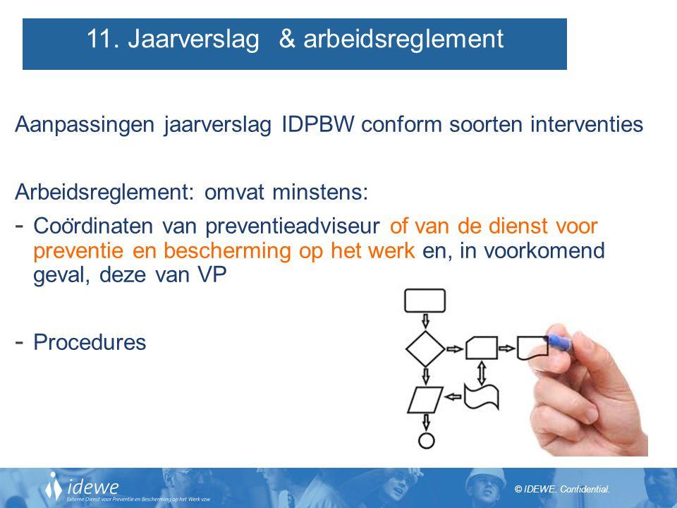 11. Jaarverslag & arbeidsreglement