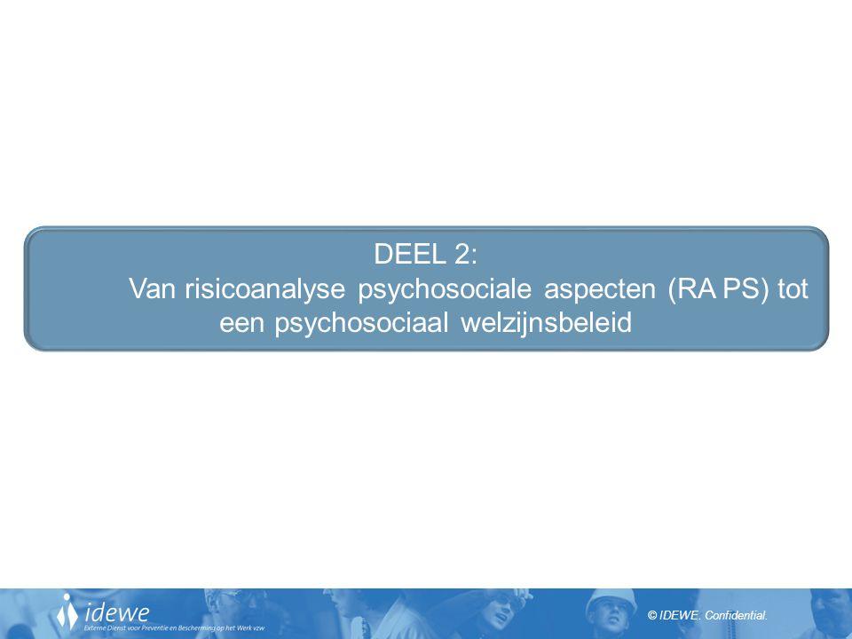 DEEL 2: Van risicoanalyse psychosociale aspecten (RA PS) tot een psychosociaal welzijnsbeleid