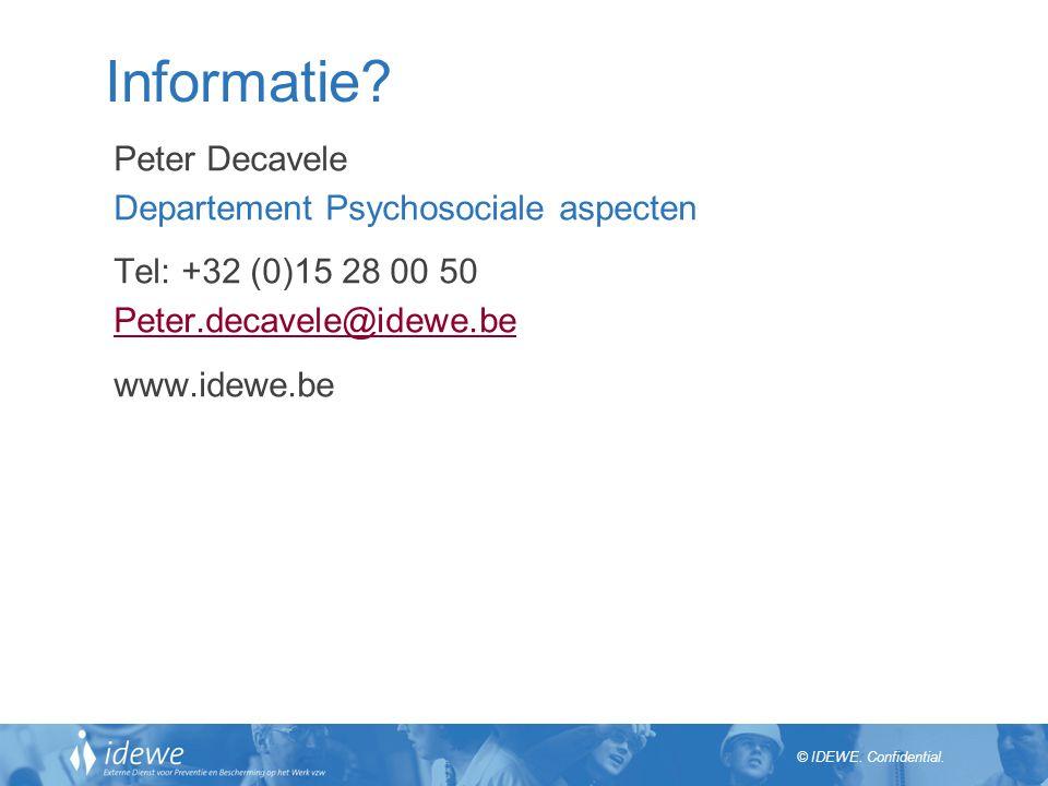 Informatie Peter Decavele Departement Psychosociale aspecten