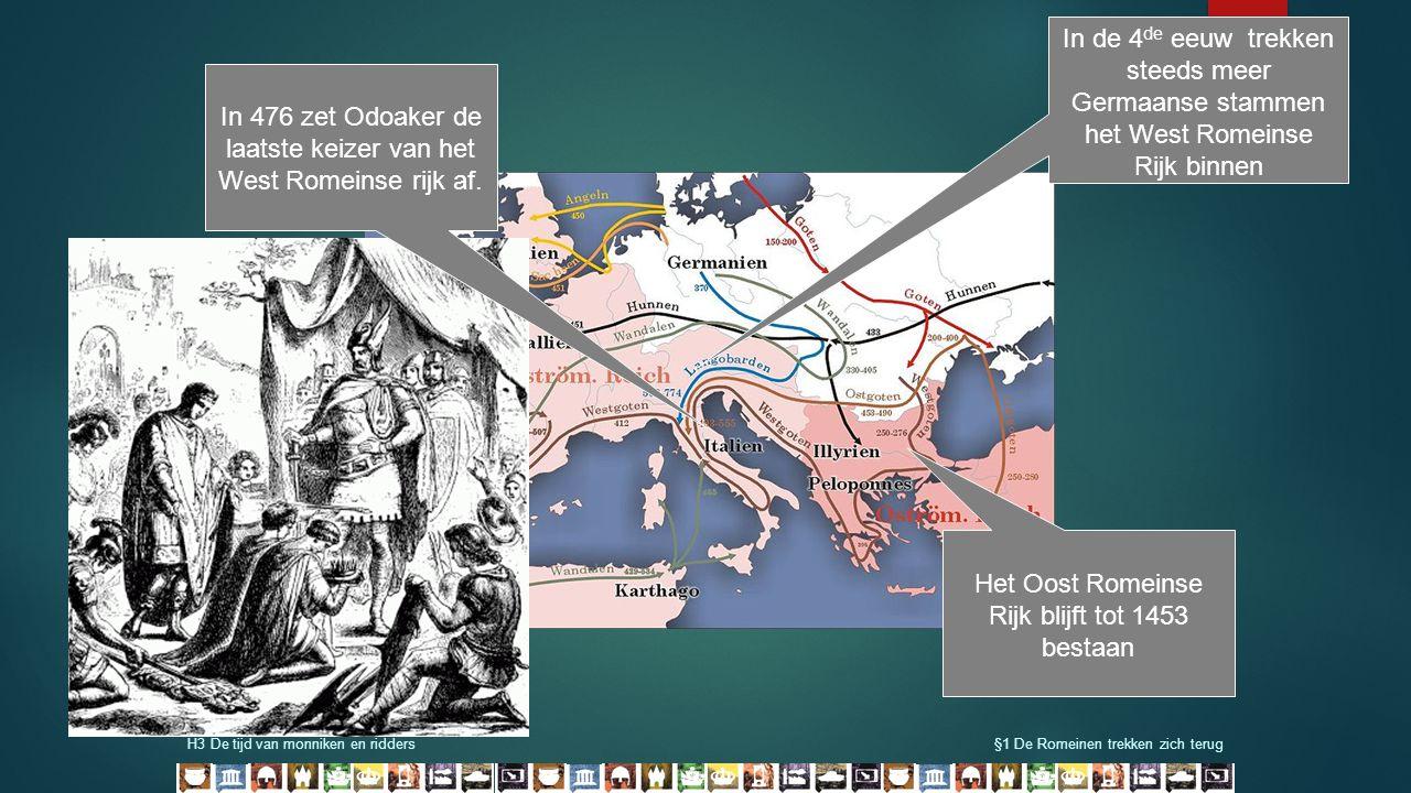 In 476 zet Odoaker de laatste keizer van het West Romeinse rijk af.