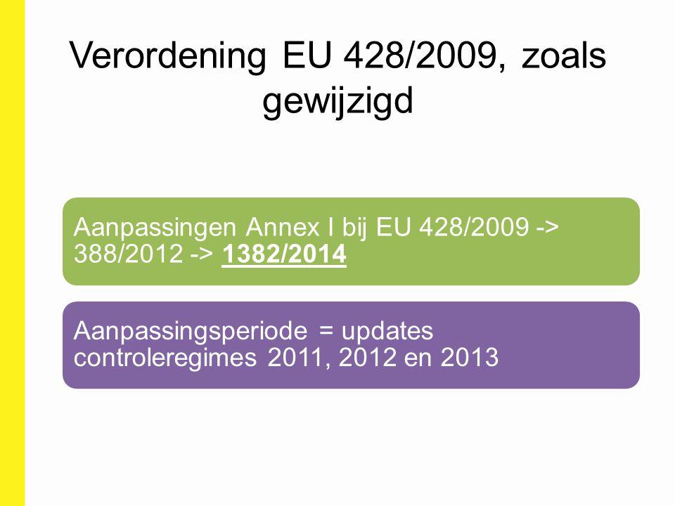 Verordening EU 428/2009, zoals gewijzigd