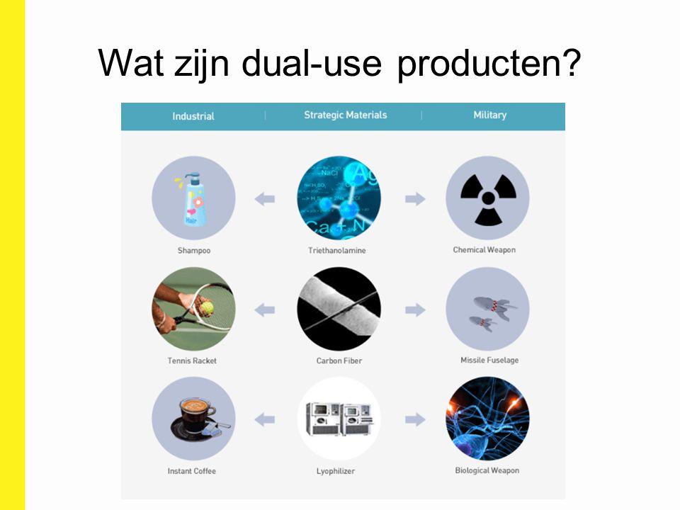 Wat zijn dual-use producten