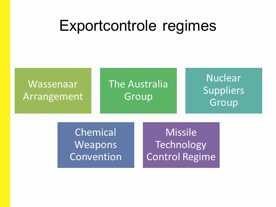 Exportcontrole regimes
