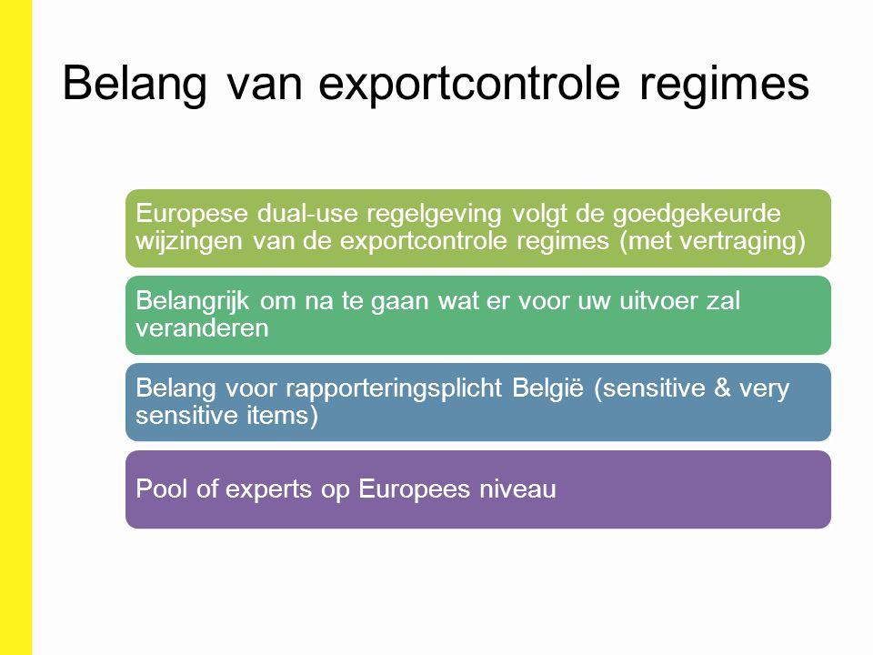 Belang van exportcontrole regimes