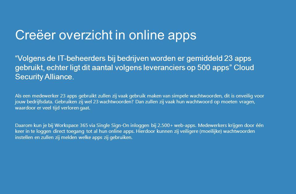 Creëer overzicht in online apps