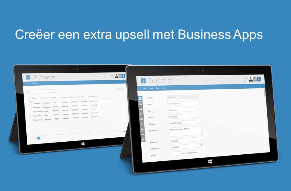 Creëer een extra upsell met Business Apps