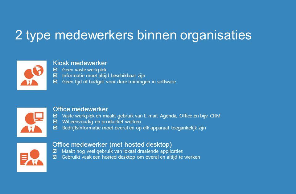 2 type medewerkers binnen organisaties