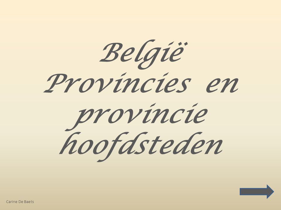 Provincies en provincie hoofdsteden