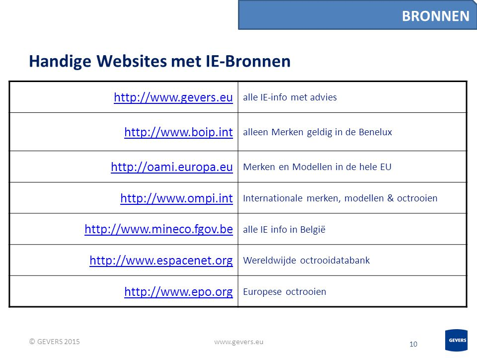 Handige Websites met IE-Bronnen
