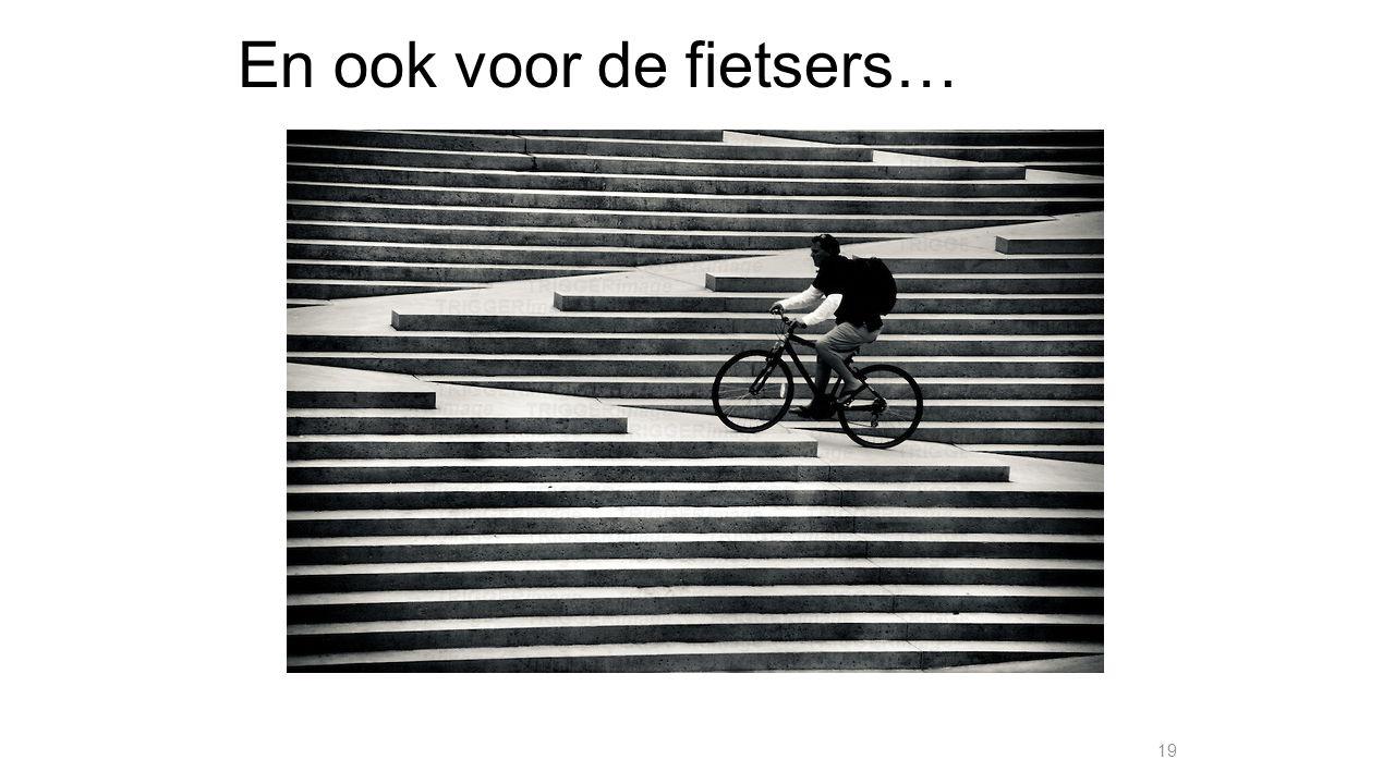 En ook voor de fietsers…