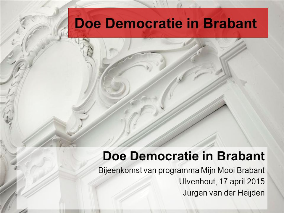 Doe Democratie in Brabant
