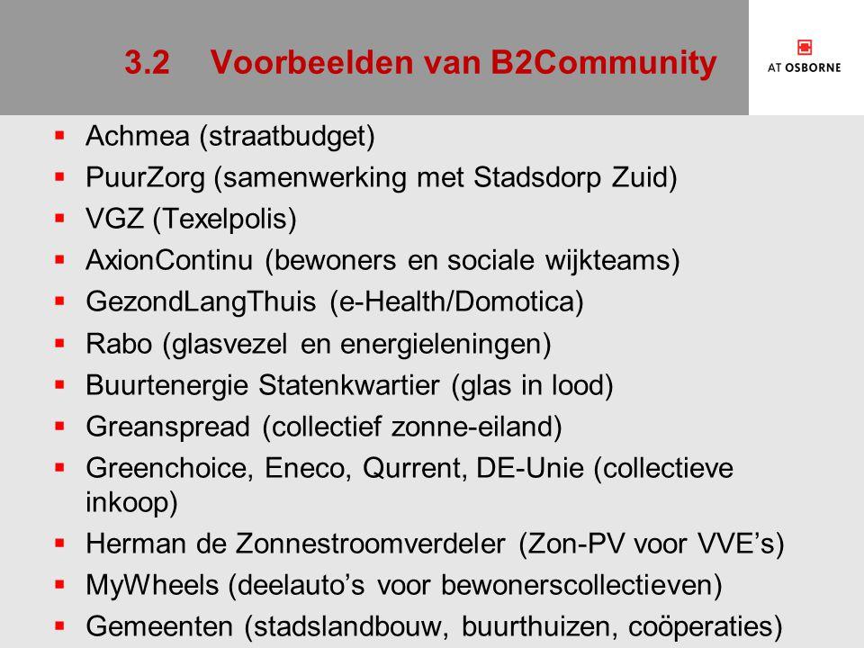 3.2 Voorbeelden van B2Community