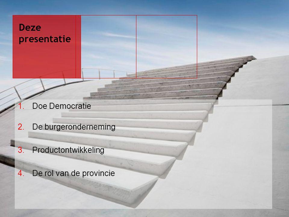 Deze presentatie Doe Democratie De burgeronderneming