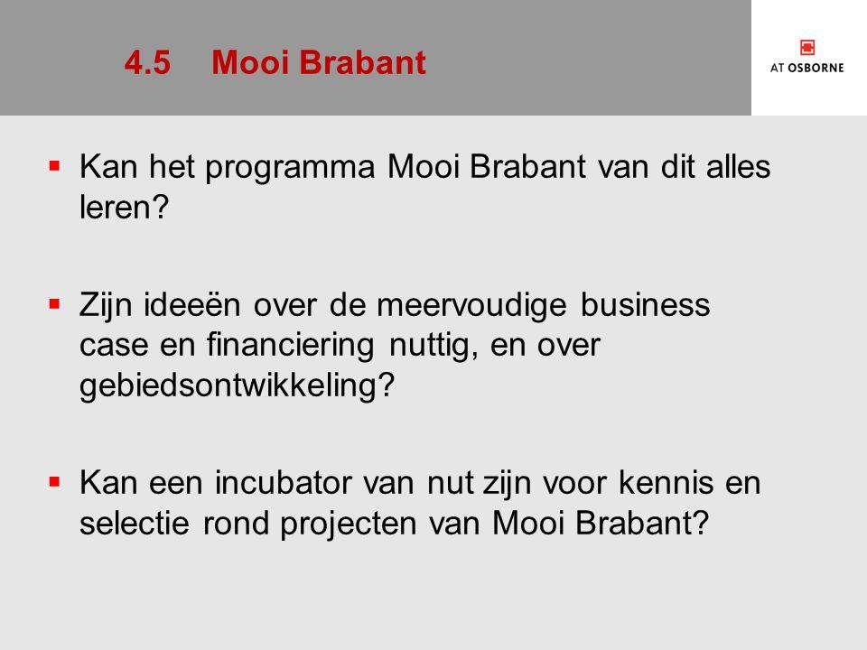 4.5 Mooi Brabant Kan het programma Mooi Brabant van dit alles leren