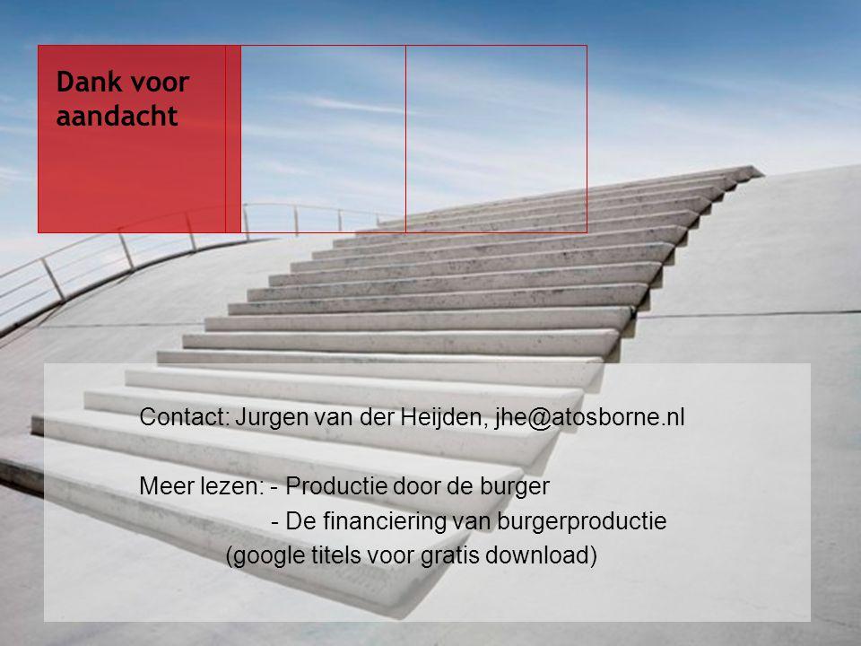 Dank voor aandacht Contact: Jurgen van der Heijden, jhe@atosborne.nl