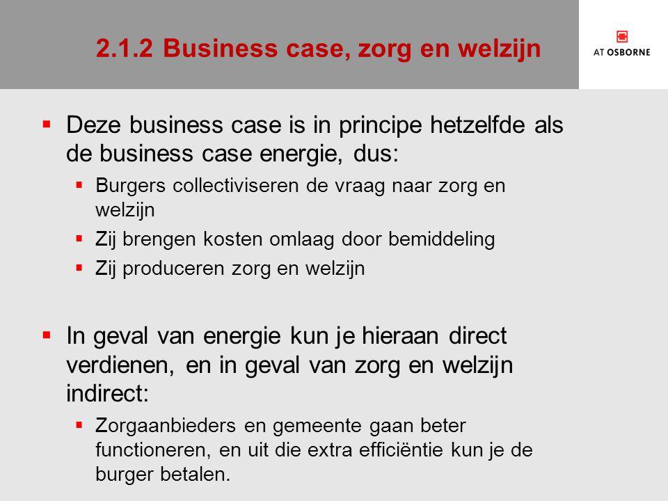 2.1.2 Business case, zorg en welzijn