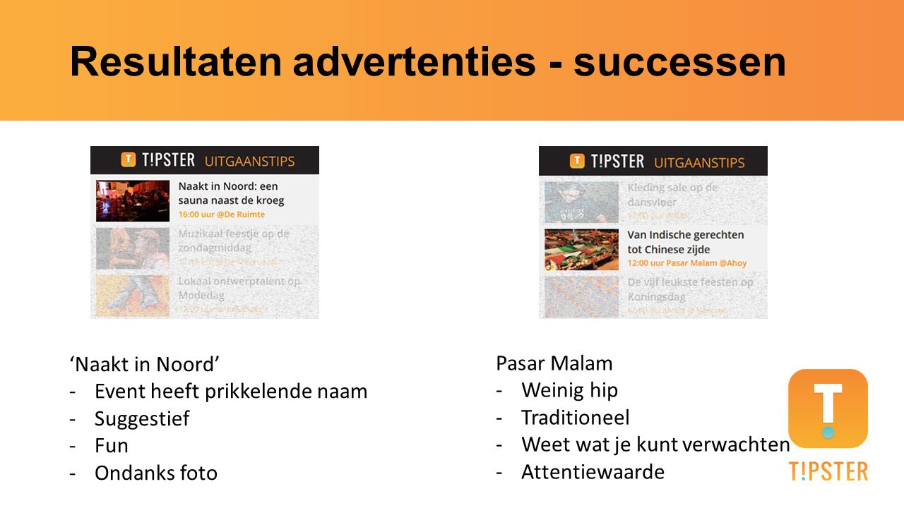 Resultaten advertenties - successen