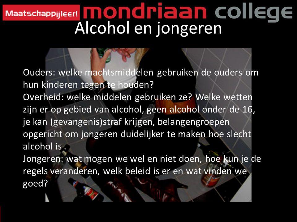 Alcohol en jongeren Ouders: welke machtsmiddelen gebruiken de ouders om hun kinderen tegen te houden
