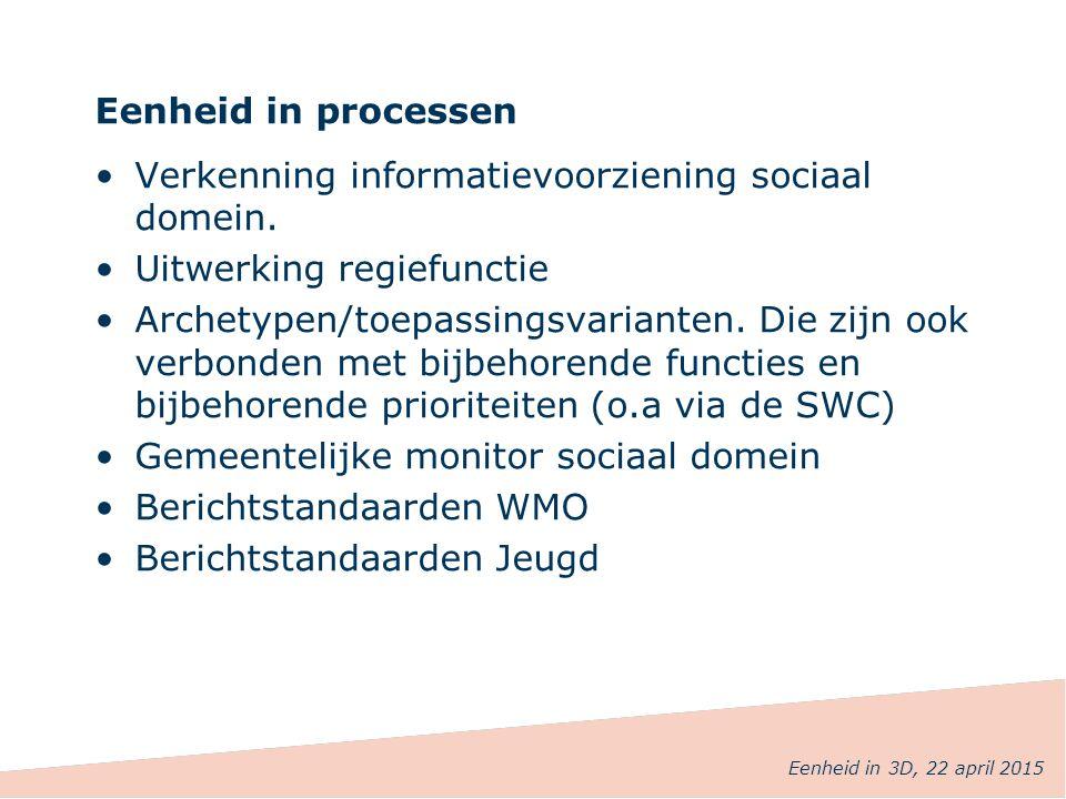 Verkenning informatievoorziening sociaal domein.
