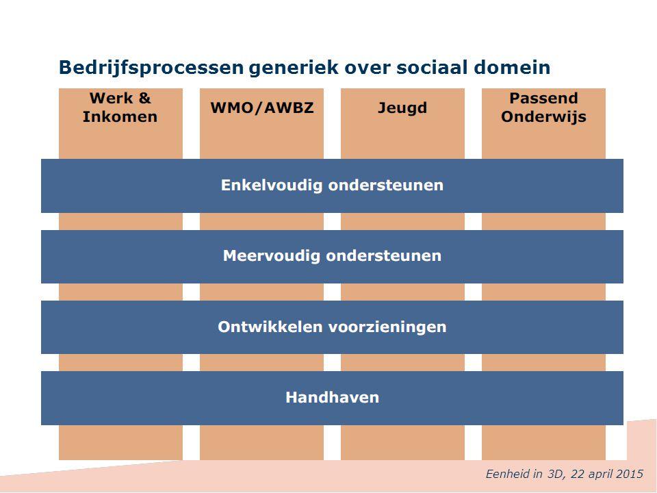 Bedrijfsprocessen generiek over sociaal domein