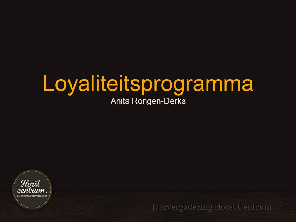 Loyaliteitsprogramma Anita Rongen-Derks
