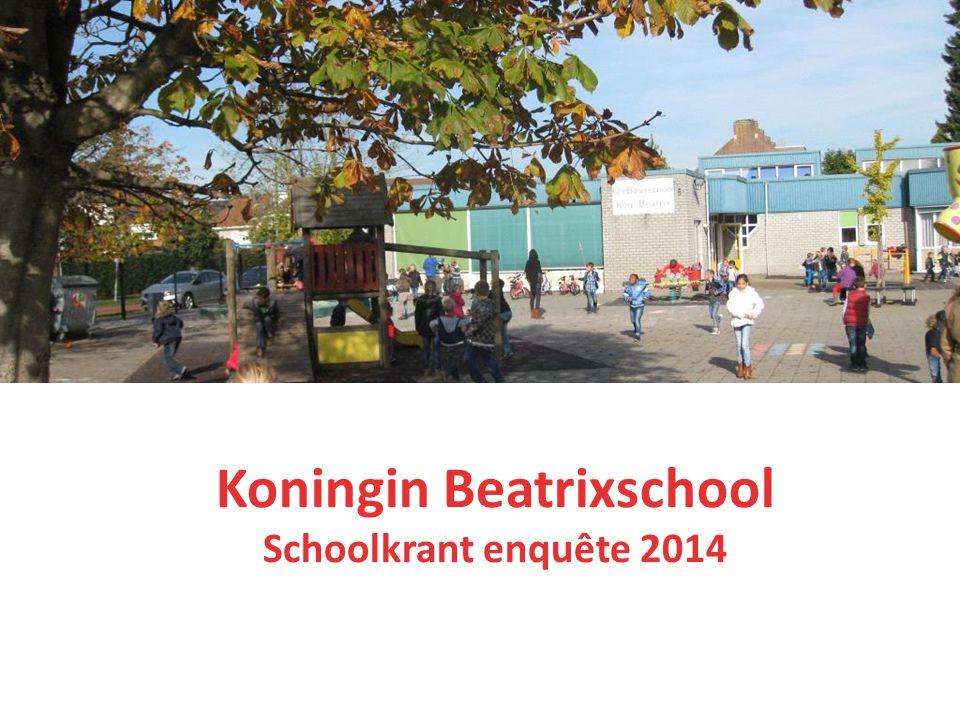 Koningin Beatrixschool Schoolkrant enquête 2014