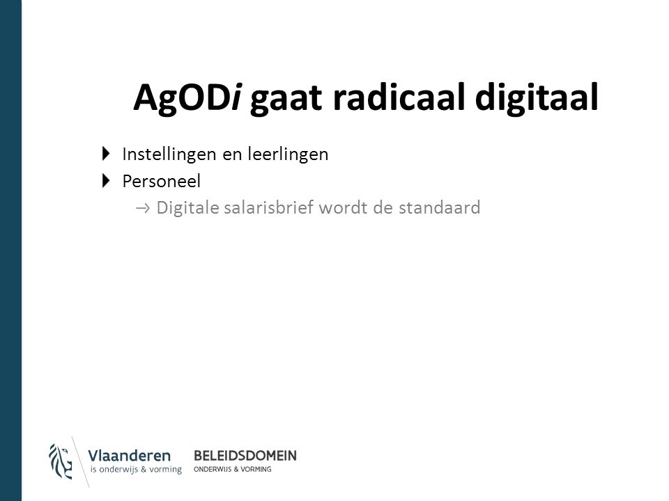 AgODi gaat radicaal digitaal