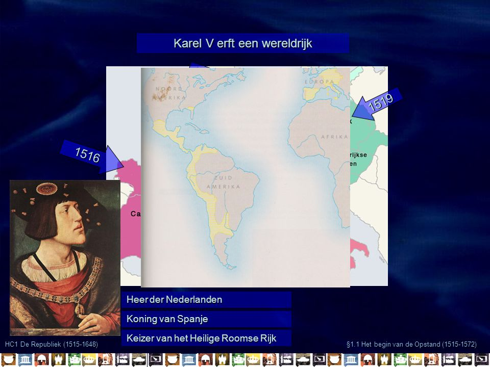 Karel V erft een wereldrijk