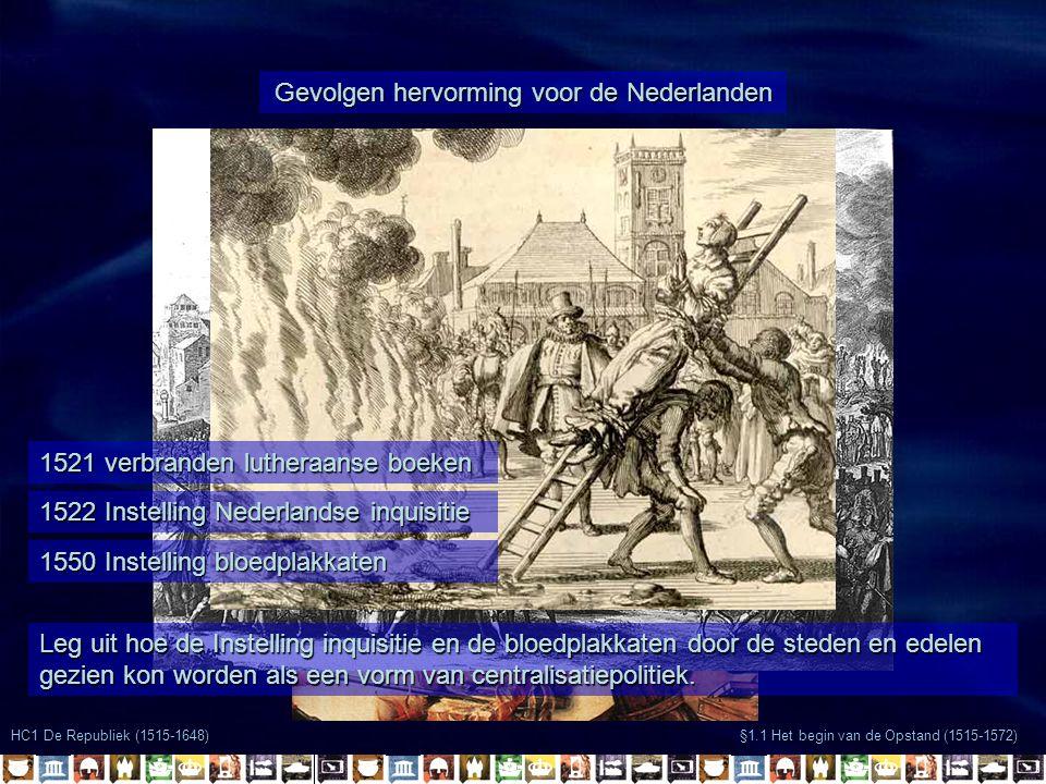 Gevolgen hervorming voor de Nederlanden
