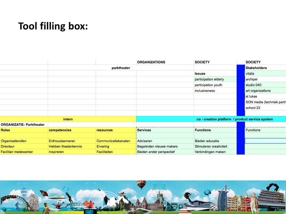 Tool filling box: