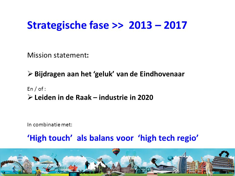 Strategische fase >> 2013 – 2017