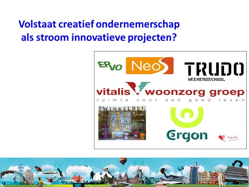 Volstaat creatief ondernemerschap als stroom innovatieve projecten