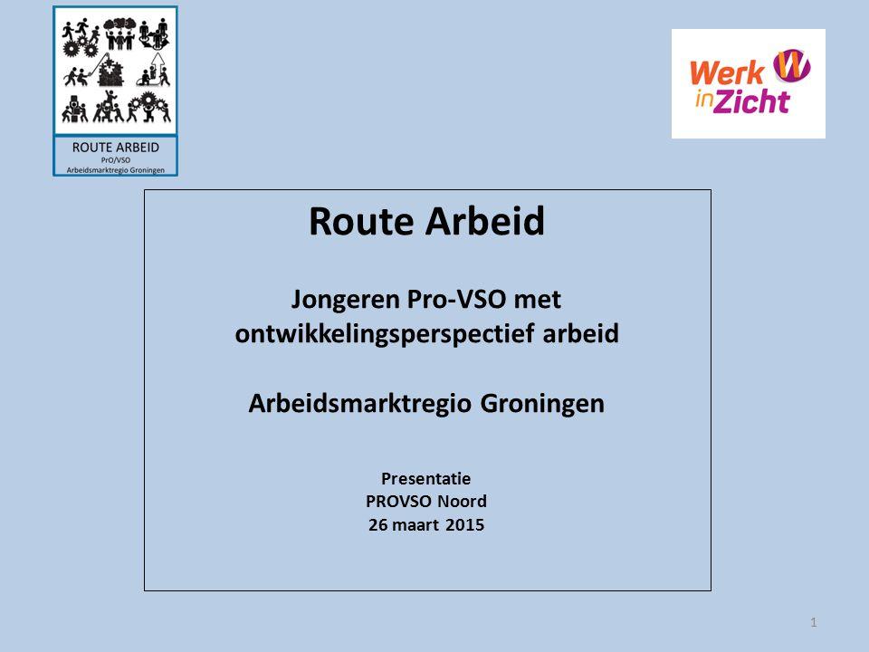 Route Arbeid Jongeren Pro-VSO met ontwikkelingsperspectief arbeid