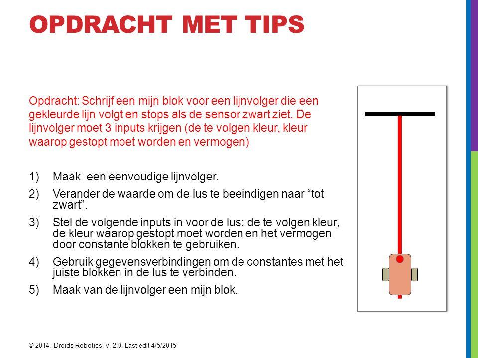 Opdracht met tips