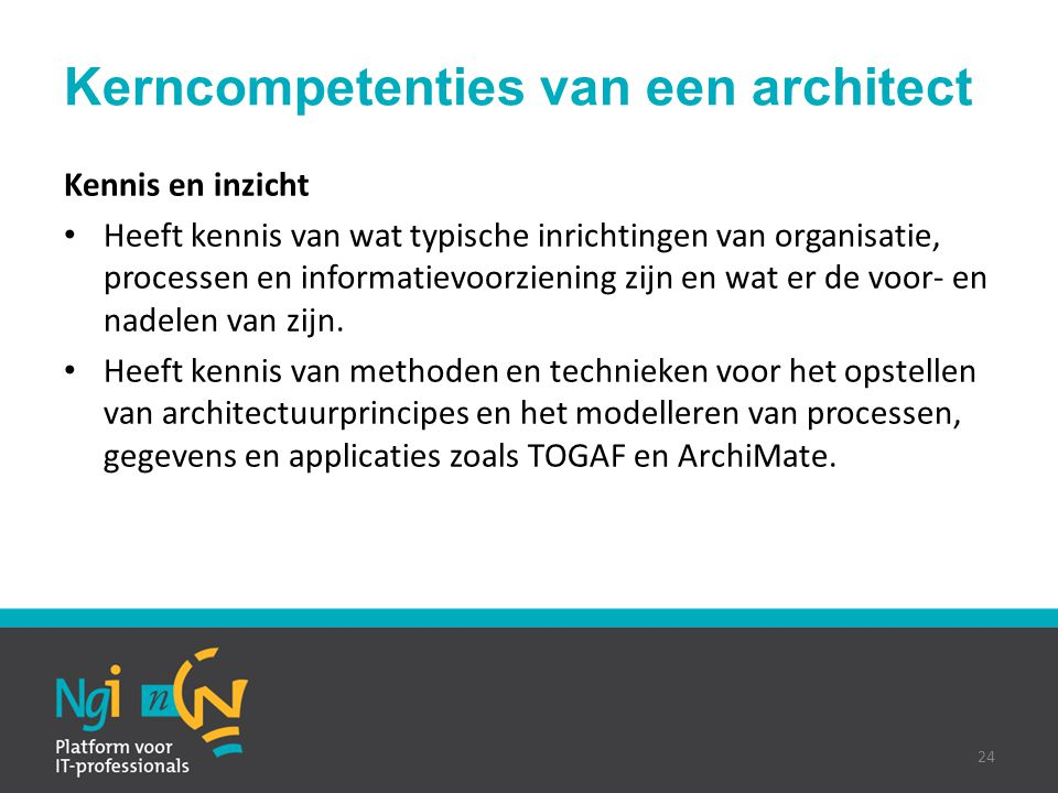 Kerncompetenties van een architect
