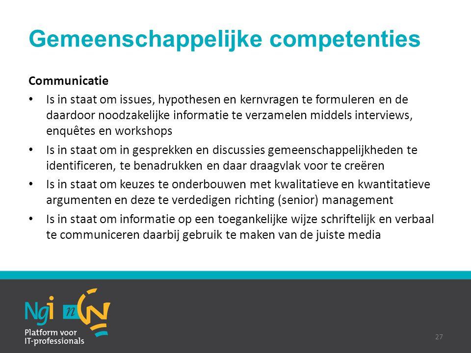Gemeenschappelijke competenties