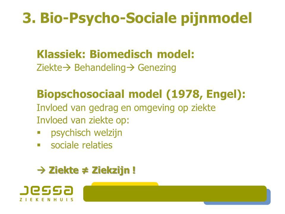 3. Bio-Psycho-Sociale pijnmodel