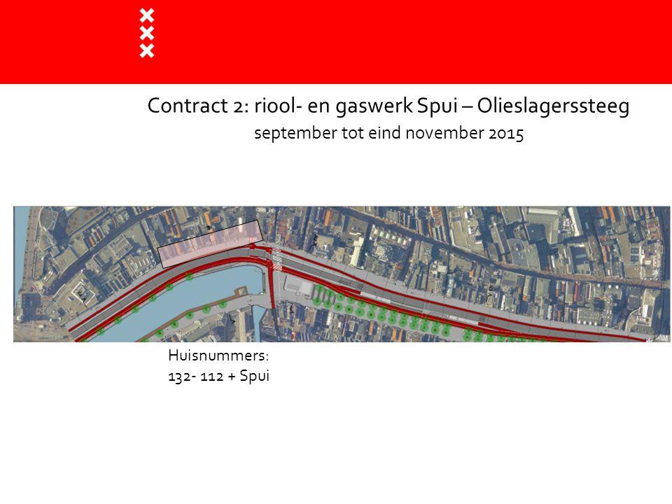 Contract 2: riool- en gaswerk Spui – Olieslagerssteeg