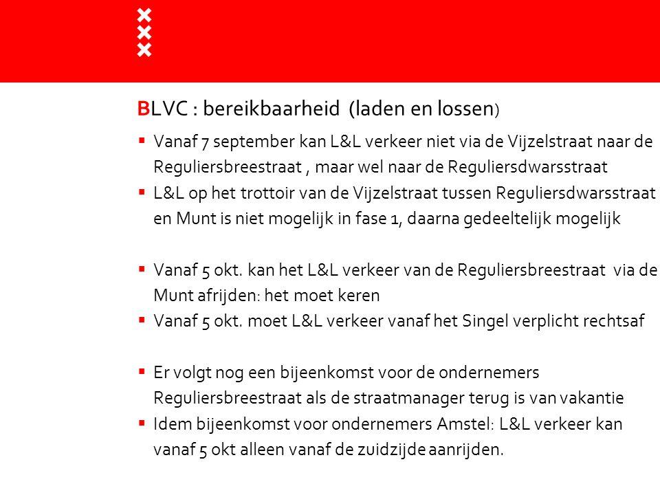 BLVC : bereikbaarheid (laden en lossen)